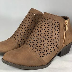 Faux leather booties